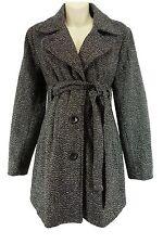 XXL 1X Womens WOOL TWEED MATERNITY COAT W/TIE Jacket Winter Pea in Pod Plus Size