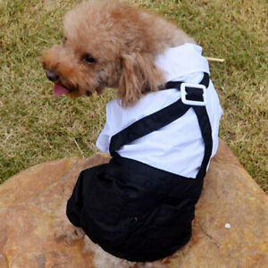 Dog-Shirt-Pet-Dogs-Clothes-Formal-Tuxedo-Suit-with-Bow-Tie-Costume-Wedding