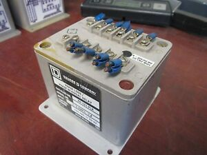 Square D Phase Loss/Phase Reversal Relay PR-101-PLR In: 1-5A 3Ph 120VAC Control