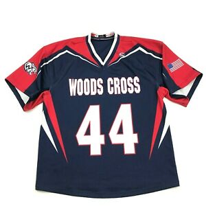 VINTAGE Woods Cross Wildcats Football Jersey Size Small S Utah High School Blue