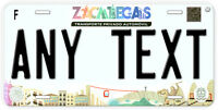 Zacatecas Mexico Any Name Number Novelty Auto Car License Plate C03