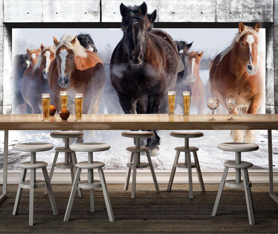 3D Handsome Horses 63 Paper Wall Print Wall Decal Wall Deco Indoor Murals