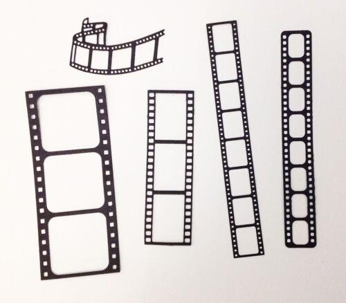 2 each of 5 designs black Pack of 10 Film Strip Die-cuts