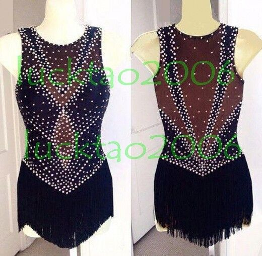New style Sparkly Figure skating Ice Skating Dress Dance Costume