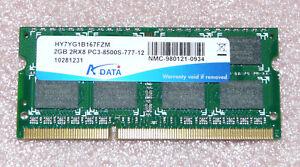 2GB-DDR3-RAM-2Rx8-PC3-8500S-ADATA-Notebook-Arbeitsspeicher
