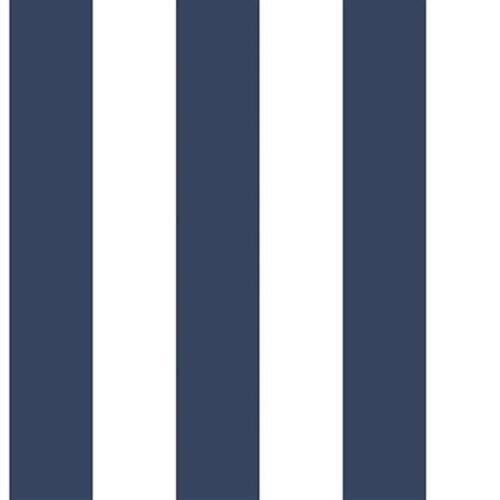 G56255 Anthologie Striped Navy Blue /& White Galerie Wallpaper