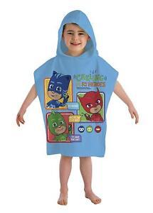 ebb5fc7f216c New Official PJ Masks Hooded Poncho Boys Kids Swimming Beach Bath ...