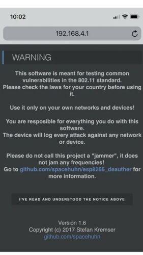 Scan faux réseaux wifi wifi ESP8266 deauthe spammeur v0