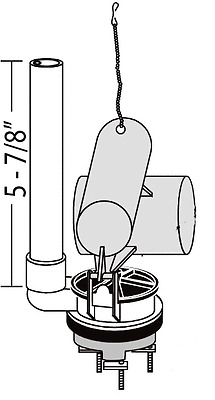 Replacement For American Standard Roma Flush Valve 47138