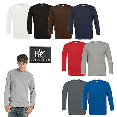 B & C  Exact 190 Longsleeve Herren Langarmshirt T-Shirt TU005