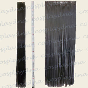 Black-Hair-Weft-Extention-3-pieces-40-034-High-Temp-Cosplay-DNA-Wig-8001