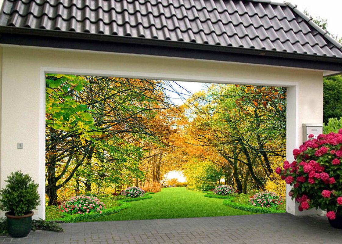 3D Trees Scenery 2 Garage Door Murals Wall Print Decal Wall Deco AJ WALLPAPER IE