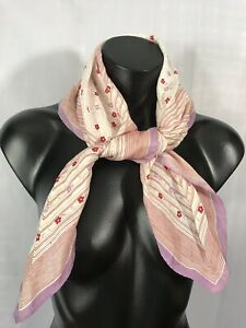 St-Ramon-Se-Vintage-Womens-Fashion-Scarf-Handkerchief-Red-Purple-Floral-Style