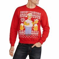 Mens Medium Simpsons Ugly Christmas Sweater Sweatshirt Homer Beer Drinking