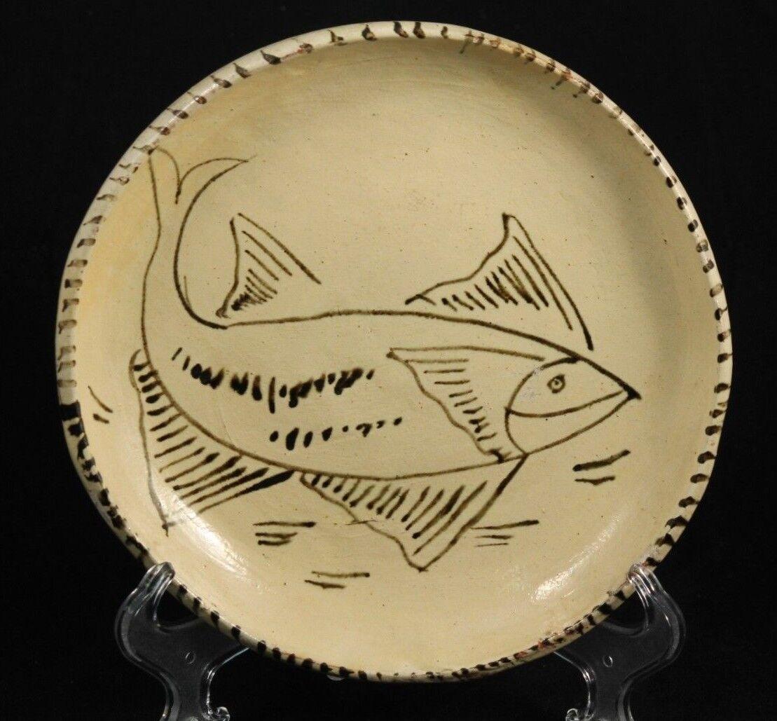 Ceramic Pottery Plate Mexican Folk Art Handmade Painted Morelia, Mexico Vintage