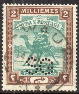 1913-Sudan-Sg-O13-2m-green-and-brown-Fine-Used