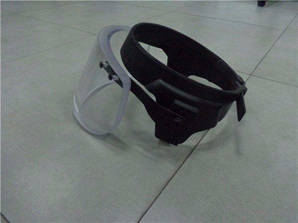 Bullet Proof Glass Ballistic Face Shield Military tatico Anti Riot Face Shield
