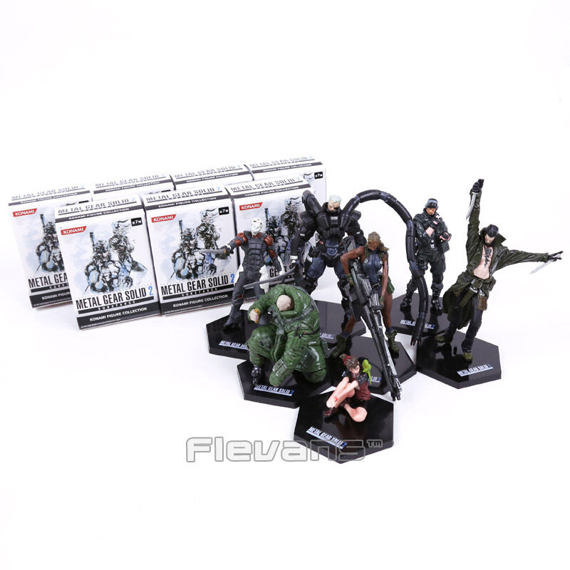 METALL GEAR SOLID 2: SUBSTANZ - MGS2 - SET 7 FIGUREN / 7 FIGUREN SET