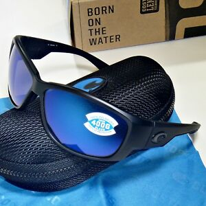 e92b1b91529 Costa Del Mar Luke Polarized Sunglasses - Blackout Black Blue Mirror ...