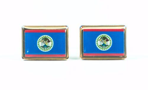 Belize Flag Cufflinks--Belizean Central American Hispanic Latino Spanish British