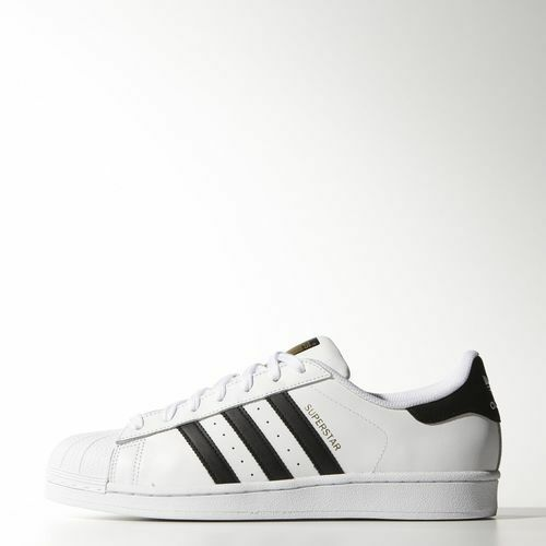 NEW MEN'S ADIDAS ORIGINALS SUPERSTAR SHOES  [C77124]  WHITE BLACK WHITE