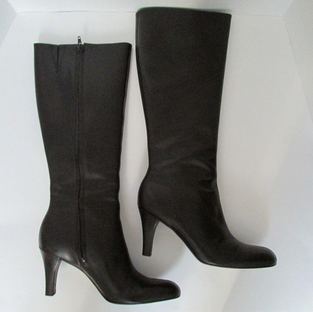 Gianni Bini gwynnie Alto Cuero Cuero Alto Negro botas Talla 8 M 4ae91e