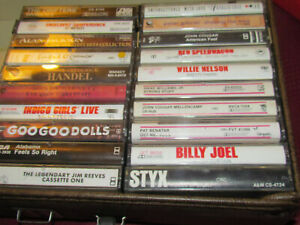 LOT of Vintage ROCK / COUNTRY 80's Cassette Tapes  STYX / Willie / Cougar / REO!