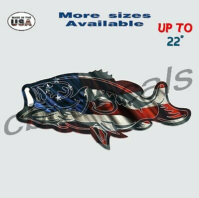 American Crappie Fishing Decal Sticker Fishing Car /& Truck Window Decals large