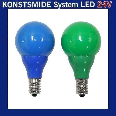 LED Glühbirne Glühlampe 24V E10 0,48W blau grün 5686-420