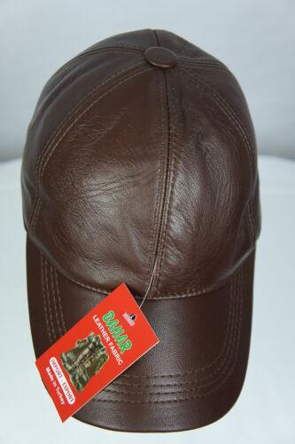 New 100/% Genuine Real Lambskin Leather Baseball Cap Hat Trucker Sports Visor