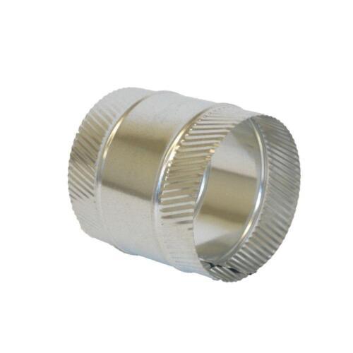 7-Inch HVAC Coupler Collar Splicer Crimped Steel Sheet-Metal Flex Duct-Connector