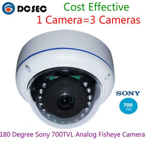 HD Sony 700TVL 180 degree Analog Fish eye Security IR dome camera System Indoor