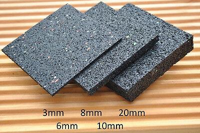 Terrassenbau Schwarz 1050 St/ück 7er Pack Gummigranulat My Plast 150 3 mm 90 x 90 mm Terrassenpads