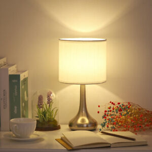 Haitral Bedside Table Lamp Small Modern Nightstand Lamp