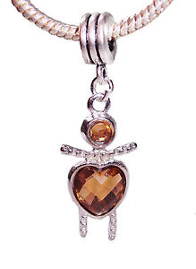 Brown-November-Baby-Girl-Birthstone-Heart-Charm-for-European-Slide-Bracelets