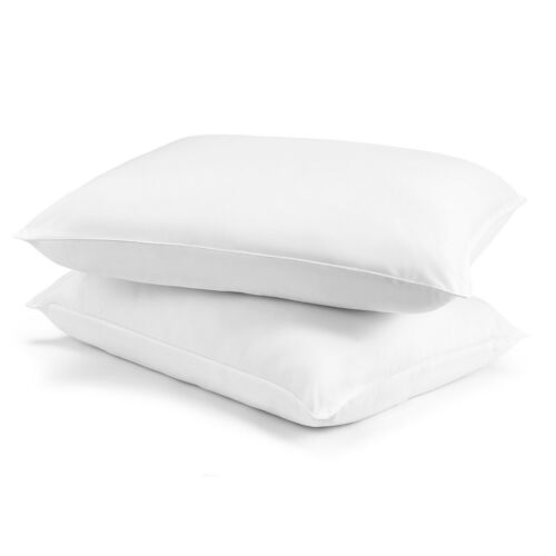 100/% Microfiber Hypoallergenic Polyester Set Of 2 Bed Pillows Multiple Sizes