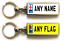 miniature 1 - Personalised Metal Double Sided Registration Number Plate Keyring Any Name /Text