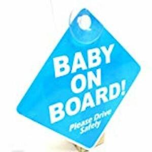 NEW CHILD ON BOARD CHILD SAFETY WITH SUCTION CUPS CAR VEHICLE SIGNS BABY IN CAR