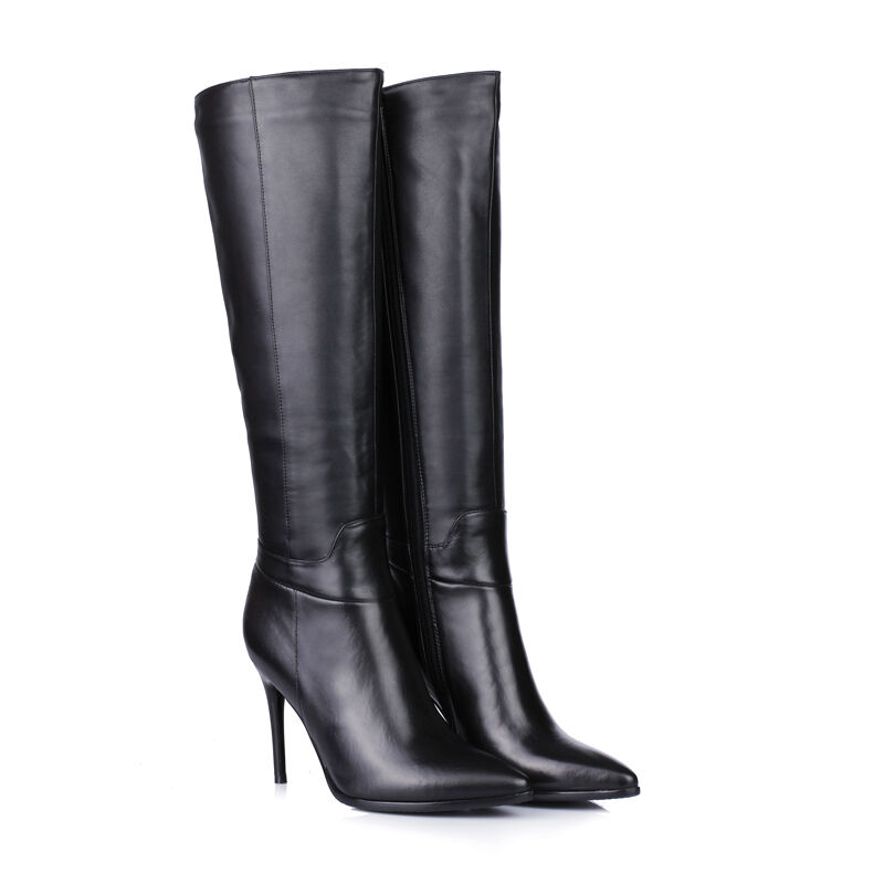 Womens shoes Genuine Leather Stilettos High Heels Zip Up Knee Boots AU Size b067