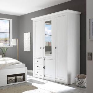 Das Bild Wird Geladen Kleiderschrank Westerland Schrank Schlafzimmerschrank  In Pinie Weiss 147