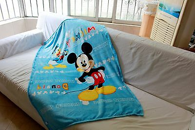 cute blue mickey mouse coral fleece blanket rug blankets U153 little quilt new