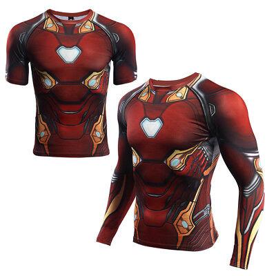 Captain America 3 Civil War Black Panther Costume Man Summer Quick Dry T-Shirts