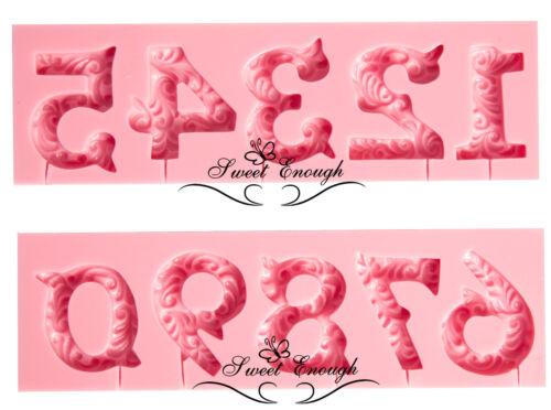 Numéros conçu moule mold cake floral Chocolat Décoration Bougie SAVONNERIE