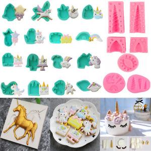 Silicone Unicorn Chocolate Mold Candy Baking Fondant Mould Cake Decoration Tools