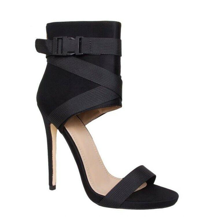 Femmes Sandales Stilettos Talons Hauts Bout Ouvert Bride à Boucle Parti Nightclub chaussures