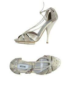 Moschino-Open-Toe-Ankle-Strap-Heels-Sandal-US-Size-6-NWB