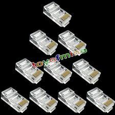 10pcs RJ45 CAT6 Modular LAN Ethernet plug in oro placcato connettore di rete
