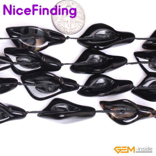 """Natural Calla Lily Leaf Flower Gemstone Beads Lots For Jewelry Making Strand 15/"""""""