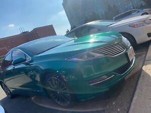 2016 Lincoln MKZ car warp green
