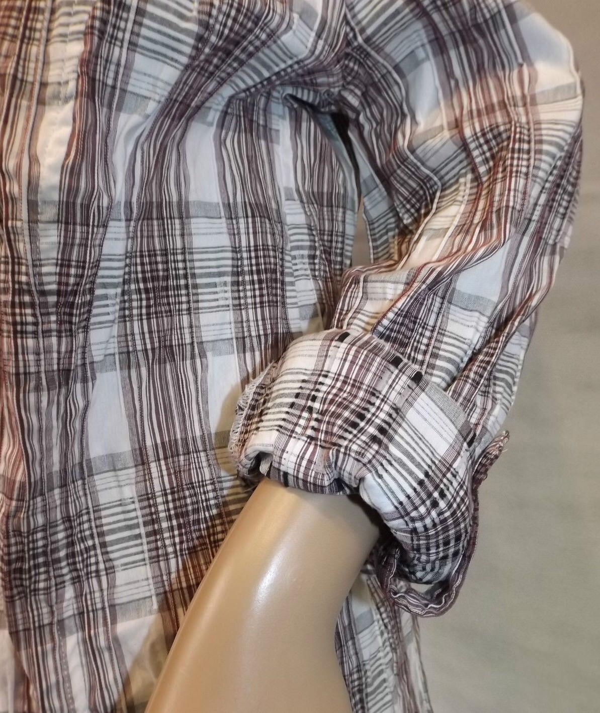GINA LAURA   S 38 HemdBlause  Blause  KaroBlause langarm  Tunika  crash  NEU  | Erlesene Materialien  | Speichern  | Starke Hitze- und Abnutzungsbeständigkeit  | Üppiges Design  | Verschiedene Stile und Stile  b0cbe5